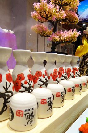 日式和风清酒壶
