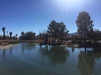 国外蓝天湖水风景图片
