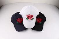玫瑰花刺绣图案棒球帽