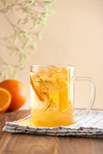 夏季饮品橙茉的茶