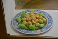 菜品青菜菌菇
