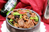石锅黑椒牛肉