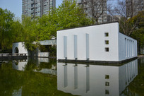 水边园林艺术墙