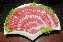 火锅菜大盘羊肉卷