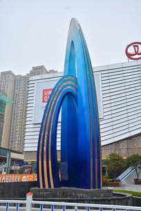 苏州万达广场雕塑作品