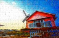乡村风景装饰画