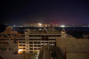 景洪城市及湄公河夜景