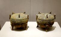 战国时期铜盖鼎