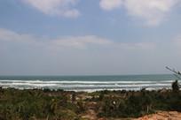 海南文昌月亮湾美丽的海景