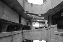 黑白老式建筑