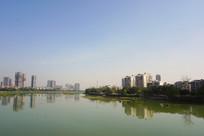 德阳绵远河两岸城市风光