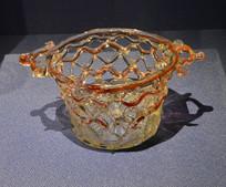 欧洲红宝石玻璃篮子