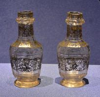欧洲中国风人物玻璃调料瓶