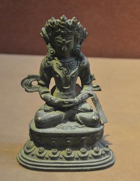 文物无量寿佛铜像