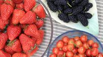 草莓樱桃桑果