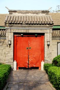 中式四合院大门
