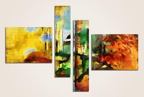 组合抽象画 拼套组合抽象画