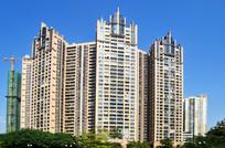 蓝天与高楼大厦建筑图片