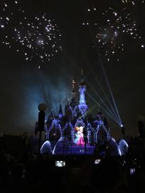 上海迪士尼乐园烟花谢幕