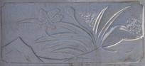 石桥上的兰花雕刻图案