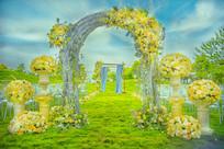 花艺拱门婚礼