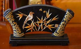麦秆工艺竹梢雀鸟