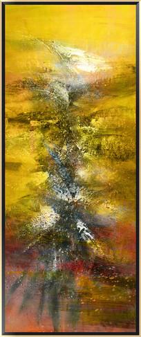欧美装饰画 漂亮的抽象油画 无框画