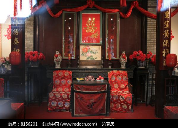 古典建筑婚礼正房图片