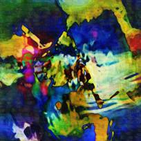 竖版现代抽象油画