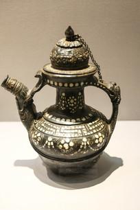 古代藏族黑陶茶壶