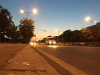 城市的黄昏