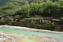 巫溪宁厂古镇古老的建筑群落