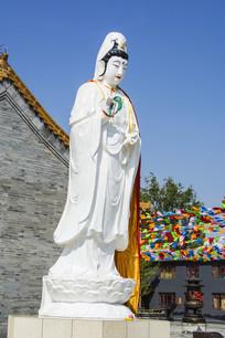 鞍山灵山寺观音菩萨雕像