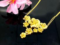 花型金项链