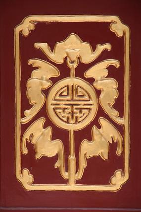 木雕传统图案五福祝寿