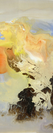 水墨流彩抽象油画