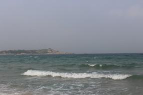 广东红海湾海浪沙滩