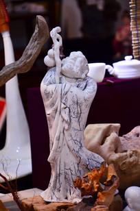 陶瓷达摩佛像摆件