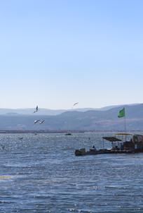 拉市海的湖泊风光