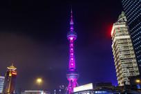 夜色东方明珠塔