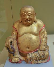 文物鎏金铜弥勒佛