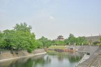 西安古城墙公园风景
