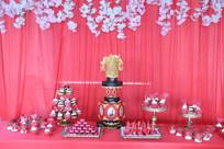 中式甜品台