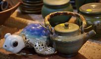 超萌陶瓷小乌龟摆件