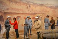 蜡像陕北人民欢迎红军