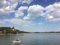昆明湖上远眺佛香阁