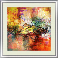欧美风格抽象油画