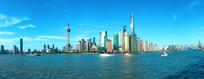 上海黄浦江对岸的陆家嘴