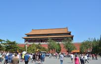 北京天安门背面