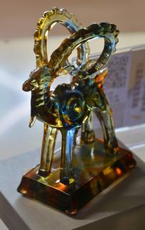 收藏品水晶雕羚羊